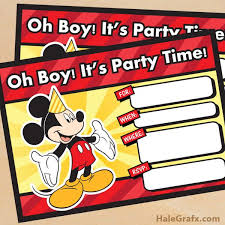 mickey mouse party invitation free printable mickey mouse birthday invitation mickey