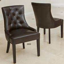 item 3 rachel leather dining chair set of 2 espresso set of 2 rachel leather dining chair set of 2 espresso set of 2