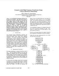 Transformer Bobbin Sizes Chart Pdf Pdf Computer Aided High Frequency Transformer Design Using