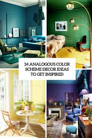 Teal And Green Living Room 34 Analogous Color Scheme Daccor Ideas To Get Inspired Digsdigs