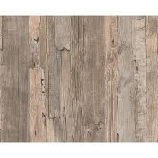 as creation distressed driftwood wood panel faux effect embossed wallpaper 954053