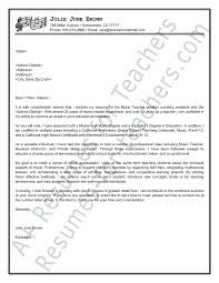 sample music teacher cover letter inside cover letter teacher sample cover letter sample resume