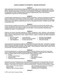 Examples Of Summary Of Qualifications For Resume Sample Resume