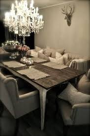 grey and rustic dinner table basically everything i want i would just change it