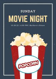 Free Movie Night Flyer Templates Movie Night Flyer Template Cnbam