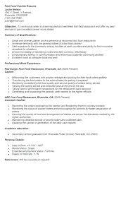 Cashier Resume Template Best Free Resume Template Cashier A Cv Retail Adsperfectco