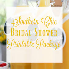 Southern Chic Bridal Shower Printable Package Virtual