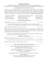 School Teacher Resume Examples Resume Examples Educational Resume