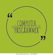 Computer Programmer Word Concept Computer Programmer Stock