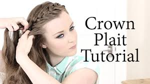 Plaiting Hair Style crown plait hair tutorial youtube 3436 by wearticles.com