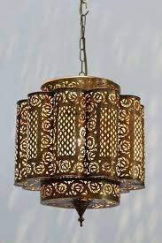 moroccan style lighting fixtures. Pierced Brass Moroccan Light Fixture In Alberto Pinto Style At 1stdibs Fixtures . Lighting B