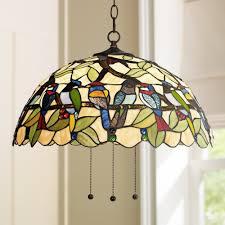 tropical pendant lighting. Robert Louis Tiffany Tropical Birds 20\ Pendant Lighting T