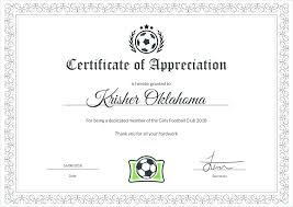 Free Soccer Certificate Templates Template Football Certificate Templates Majestic Award