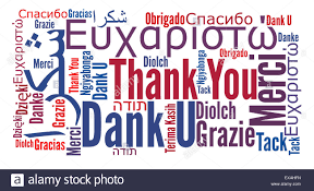 Word Thank You Thank You Word In Different Languages Stock Photo 85055817 Alamy