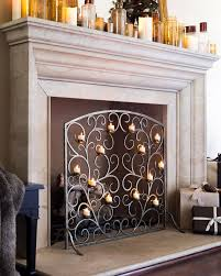 Decorative Fireplace Screens Wrought Iron  FoterSmall Fireplace Screens
