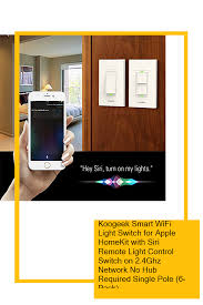 Apple Homekit Wifi Light Switch Koogeek Smart Wifi Light Switch For Apple Homekit With Siri