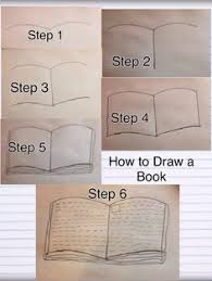 how to draw an open book in 6 easy steps