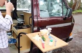 you don t have to have a cer to c in a vanagon you user kirt fitzpatrick built his own custom doorway kitchen in a non cer plete with a