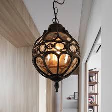 black brass orb pendant lighting
