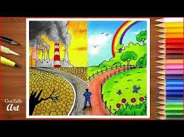 Save Environment Save Nature Poster Chart Drawing For