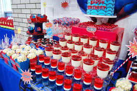 28 Spiderman Candy Buffet Ideas Spiderman Party Candy Table