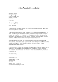 Cover Letter For Retail Sales Retail Cover Letter Sales Assistant