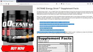 Energy Drink Comparison Chart Supplement Facts Panel And Comparison Chart