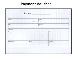 Payment Voucher Sample