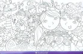 Coloring Pages American Girl Doll Coloring Pages Free At