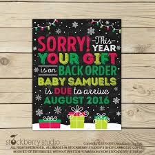 Pregnancy Announcement Printables Christmas Pregnancy Announcement Printable Holiday Baby