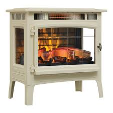 duraflame 3d cream infrared electric fireplace stove with remote control dfi 5010 04