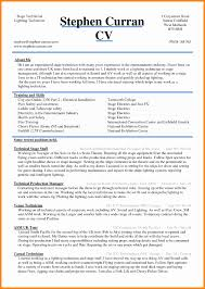 Basic Resume Template Word Awesome 6 Curriculum Vitae In Ms Word