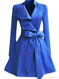 handmade womens processing ruffle collar big hem trench coat
