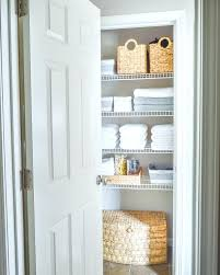 closet baskets storage organized bathroom linen closet with baskets and white towels best closet storage baskets closet baskets storage
