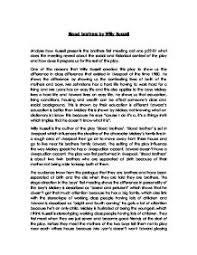 blood brothers gcse english marked by teachers com blood brothers by willy russell analyse how russell presents the brothers first meeting act one p22 27 what does the meeting reveal about the social and