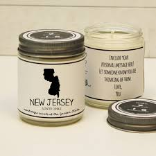 Carolina Designs Ltd Candles New Jersey Scented Candle Homesick Gift Feeling Homesick