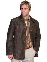 scully men s leather jacket car coat steampunk style l