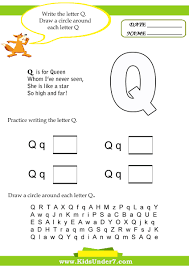 collection of pre letter q worksheets them and try