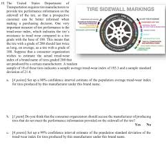 Tire Wear Rating Chart Solved 10 The United States Department Of Transportation