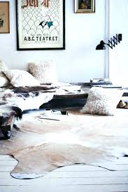 faux cow skin rug cowhide for modern living room the wooden houses how incredible bear with