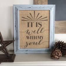 burlap furniture. view in gallery framed burlap with quote displayed on furniture