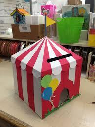 diy circus card box birthday party carnival circus
