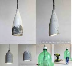 diy concrete pendant lamp