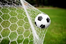 Fotobehang Voetbal Fotobehang Voetbal In Goal