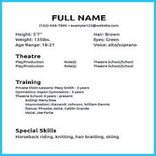 actor resume no experience 8 best acting resume images acting resume template actresses cv