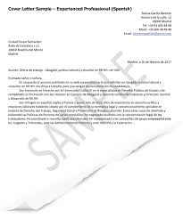 Experienced Professional Cover Letter Cover Letter Samples Spain Goinglobal