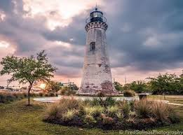 Round Lighthouse In Pascagoula Mississippi On The