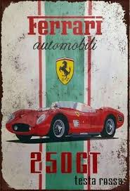 Their cars have made numerous appearances in books, tv, and film as a symbol of class and intensity. Ferrari 250 Gt California Spyder Advertising Retro Vintage Metal Sign 4 00 Picclick Uk