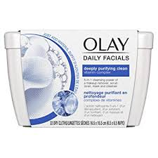 Olay Daily <b>Facial Cleansing Cloths</b> Tub for a Deeply <b>Purifying</b> Clean