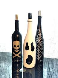 This set of 3 hand painted wine bottles are completely one of a kind.